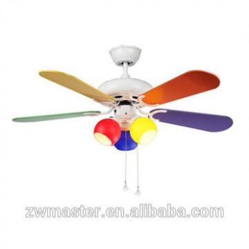 ac motor colorful wood blades ceiling hanging fan glass lights fan ceiling for kids room