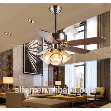 """42"""" flush mount bronze finish ceiling fan light with 5pieces reversible wood blade,pull cord control"""