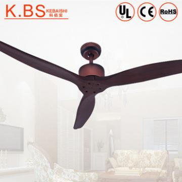 Modern Electric Motor Dark Red Timber Blades Ceiling Fan Without Light
