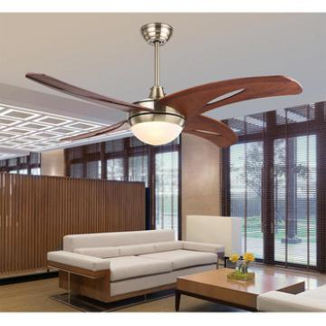 """48"""" wood blades High efficient ceiling fan with led light home decoration with remote control"""