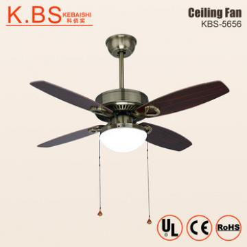 Best Brand Modern Simple Decorative Plywood Blade Bronze Ceiling Fan With Light
