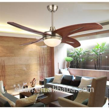 48 inch American village style ceiling fan with LED light indoor&out door use wood blade