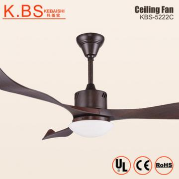 Indoor Decorative Wood 3 ABS Blaeds Fan Lamp Energy Saving Ceiling Fan With Light