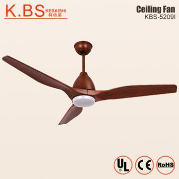 High Ceiling Modern Wood Chandeliers 220V DC Motors LED Ceiling Fan With Light