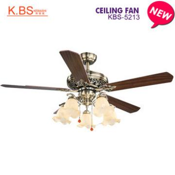 Indoor Decorative Wood Electric Fan Home Appliance Ceiling Fan With Light