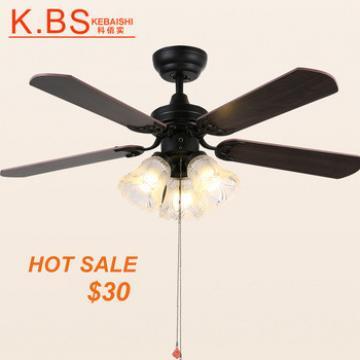 Indoor Decorative Wooden Fan Energy Saving Fan Lamp Living Room Ceiling Fan Light