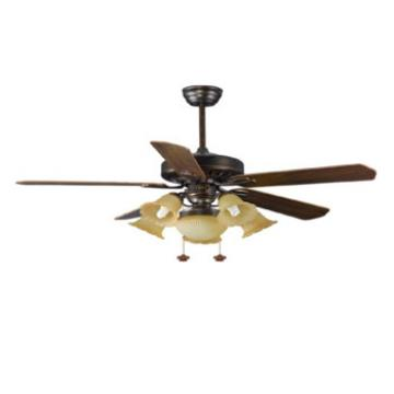 American style luxury design ceiling fan with lights 5 pieces wood blade remote control