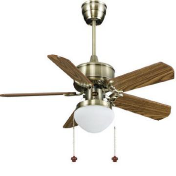 "48"" 1220mm wood blade ceiling fan with single led light kit pull cord control"