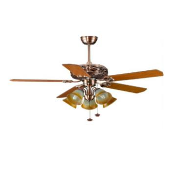 48 inch classis design decorative ceiling fan with lights energy saving 100v-240v AC/DC motor
