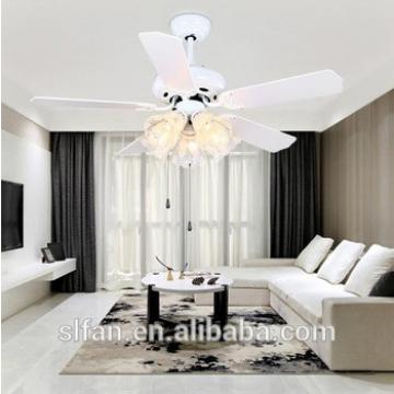 "52"" flush mount hugger ceiling fan light with pull cord control"