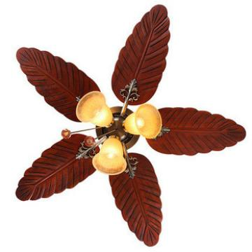 48 inch energy star ceiling fan with reversible wood blade and 3 pieces light kit with archaize glass