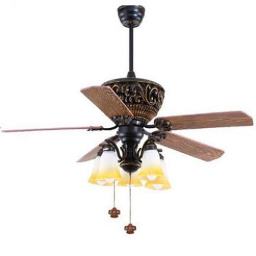 52 inch classic design ceiling fan with light by pull cord control for Asian and Middle east markets