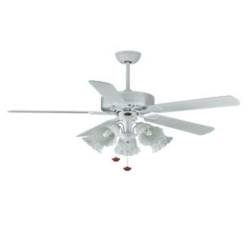 52 inch ceiling fan with light pull cord control CE approved wood blade