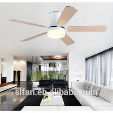 52 inch low profile giant ceiling fan with led light kit and wood blades remote control for Spain market