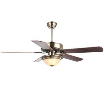 "52"" bronze finished energy saving hugger ceiling fan with single light kit and five pieces reversible wood blades remote control"