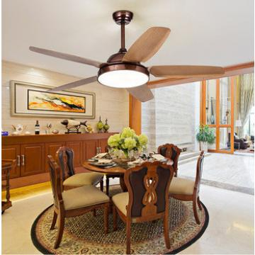 52 inch Thailand village style ceiling fan with light indoor&out door use wood blade body