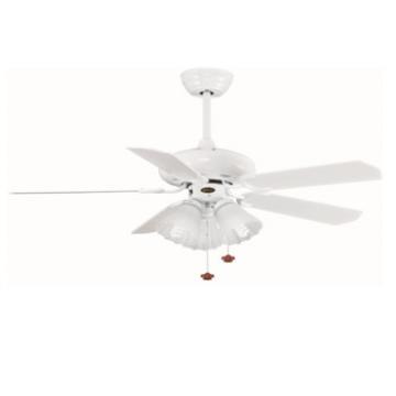 European style wooden blade ceiling fan with lights AC motor fan white blade fan