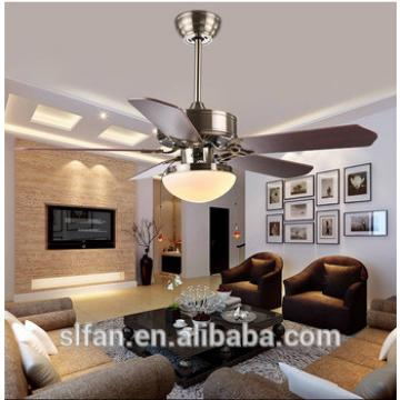 """42"""" bronze finish ceiling fan with single led light kit and 5pieces reversible wood blade,pull cord control"""