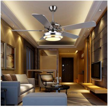 52 inch consumption flush mount black wood blade ceiling fan indoor&out door use