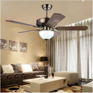 52 inch ceiling fan with 5 pieces poly wood blade and LED light,CE,UL approves energy saving