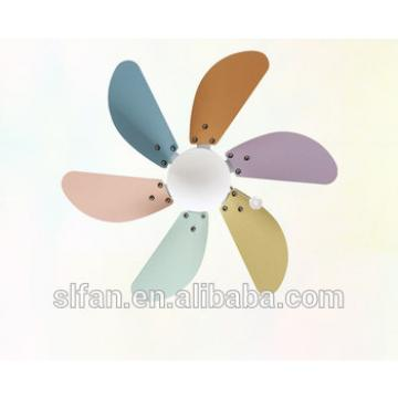 30 inch small ceiling fan light with single led light kit and 6pieces reversible wood blade pull cord control