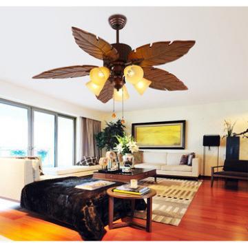 52 inch ceiling fan with light indoor&out door 5 handmade wood blade body