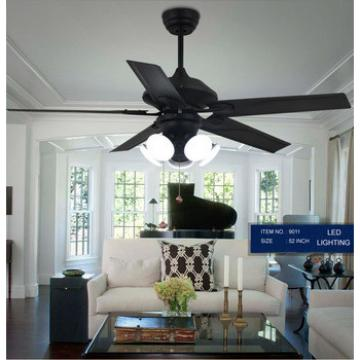 52 inch mushroom ceiling fan with 5 iron /wood blades and 5 light kit with acrylic lampshade+remote control