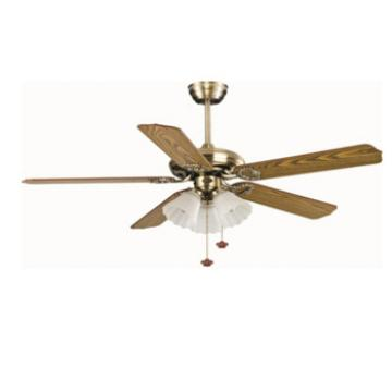 wood leave shape popular ceiling fan with lights