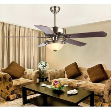 52 inch ceiling fan with LED light 5 pieces metal blade and glass cup led light,CE,UL approves