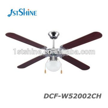 52 Inch Cooling Motor Remote Control CE Ceiling Fan 4MDF Blade 1 Light