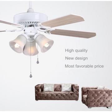 "High quality multi-function 42"" 60W two colors blades electric ceiling fan with E27 light"