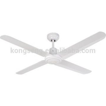 "2018 metal industrial decorative copper LED 4 blades white 48"" 56"" 60"" SAA Australia aluminium ceiling fan light wall remote OEM"
