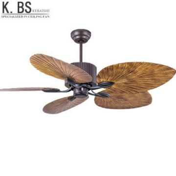 Air Conditioning Remote Control Ceiling Fan Wholesale Natural Style Fancy Palm Leaf With Light