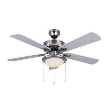 42 inch 5 blades brushed nickel ceiling fan with light