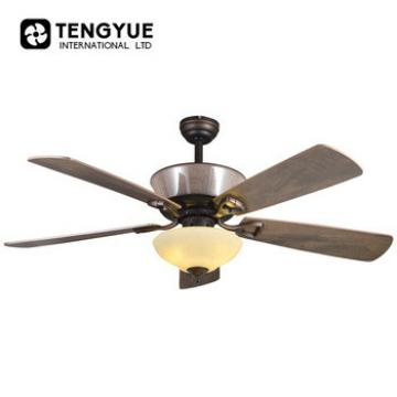 Decorative light weight ceiling fan with copper motor and led light