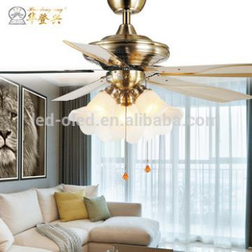 "52"" American style ceiling fan with LED light and 4 pieces plastic blades,remote control"