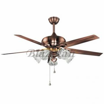 52 inch Remote control decorative ceiling fan with e27*5 lights 5 metal blade 188*15 moter 56-1510