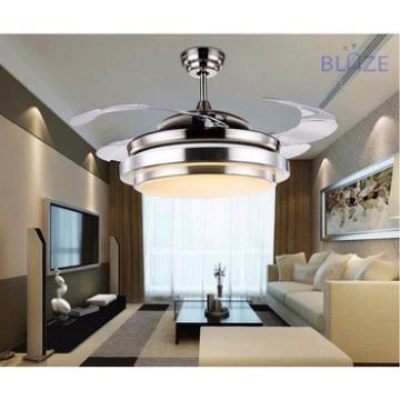 led lightning orbit ceiling fan hidden blades modern