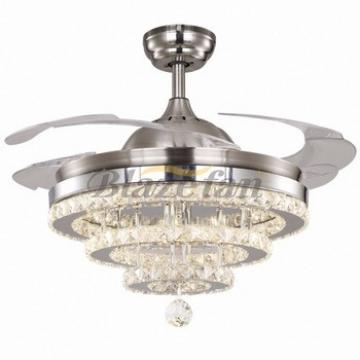 led lights copper ceiling fan winding wire hidden blades modern