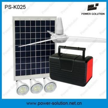 Solar light system with ceiling fan and USB mobile charger for home