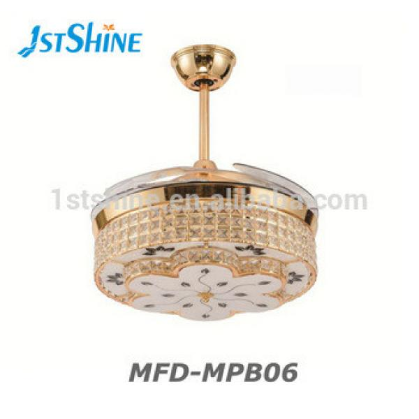 Hot sale high quality invisible blade 42 inch ceiling fan with LED light