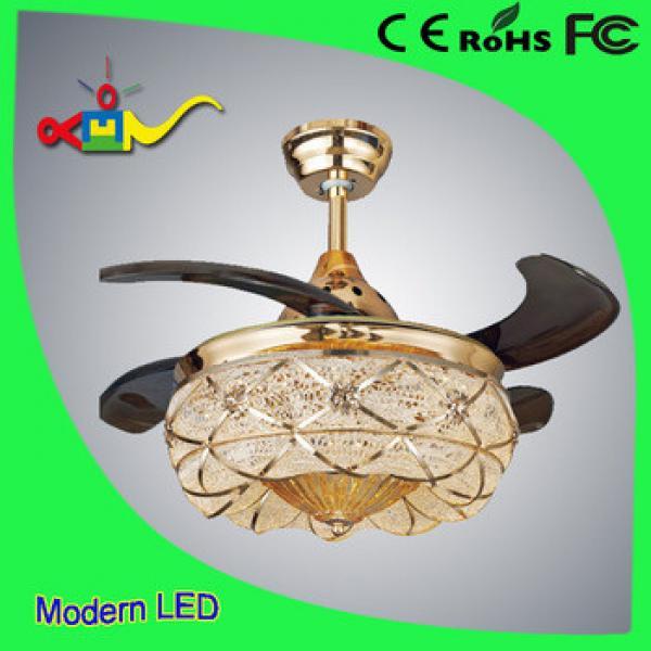 35 inch remote controlled Crystal Ventilador ceiling fan