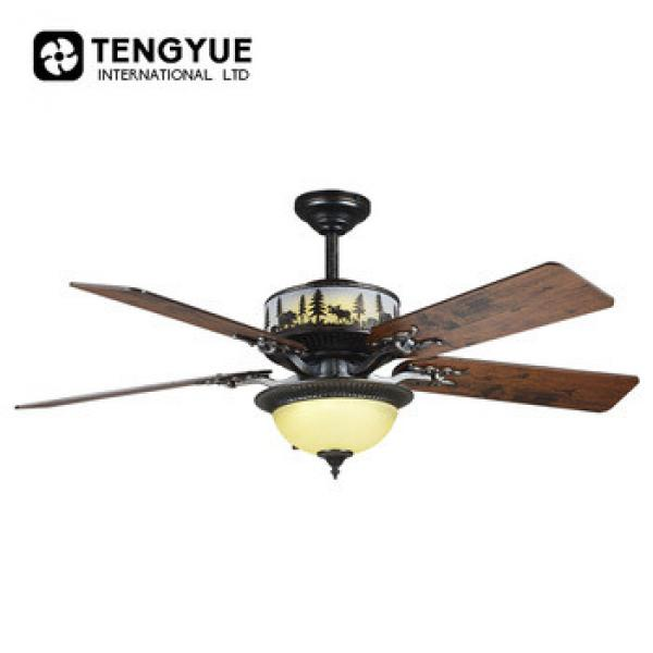 Low price hot selling AC strong motor fancy ceiling fans ceiling with light 220v ventilation 48''modern decorative ceiling fans