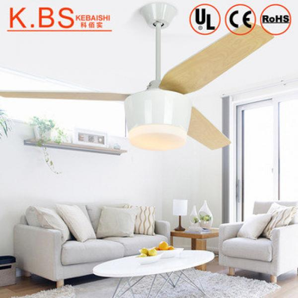 52 Inch Indoor Led 12W Remote Control Plastic Blade Ceiling Fan With Light