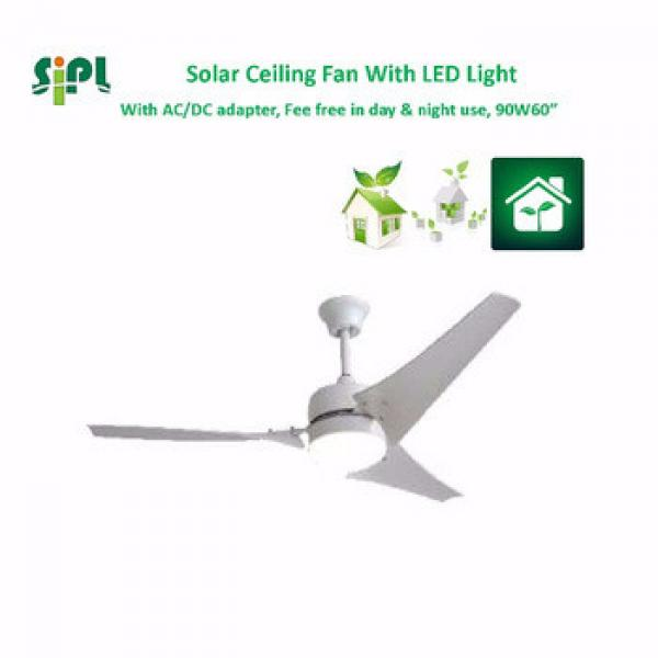 VENT KITS 60 inch solar fan solar battery system 24v dc motor ceiling fan for home appliances