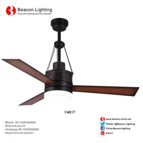 """Specializing 48"""" American antique Brown body fan blade with 3 chain shade Led Ceiling Fan lamp Wholesale Factory price"""