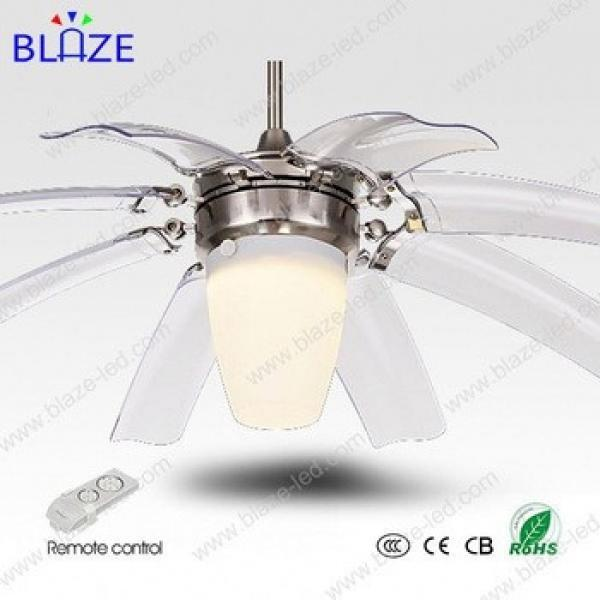 led lighting ceiling fan with remote control hidden blades modern