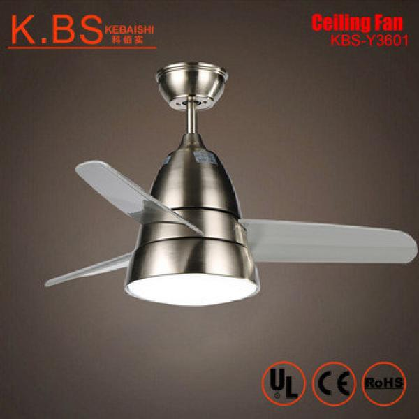 New Products Loft Style Simple Design 36 inch ABS Blade Mini Ceiling Fan With Light
