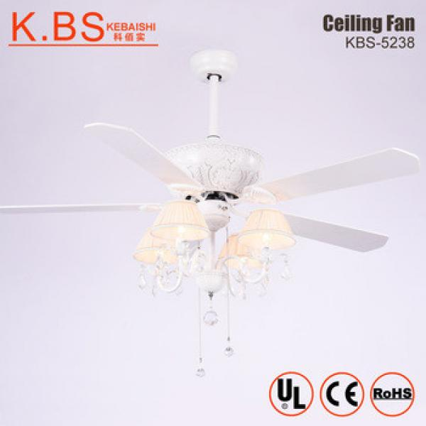 Diamante Shining Home Hall Fans Lights Folding Blades Modern Ceiling Fan With Light