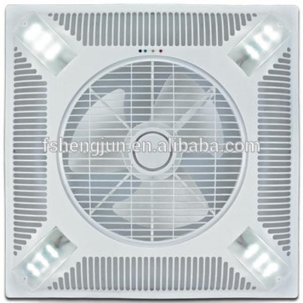 60X60cm Shami KDK 14 inch false ceiling mounted ventilation fan with LED light to Iraq Dubai Pakistan Syria India